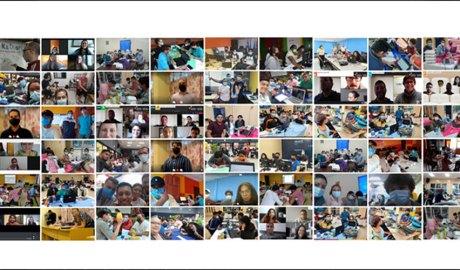 Equips participants a la hackató universitària amb motiu de la Cimera Iberoamericana