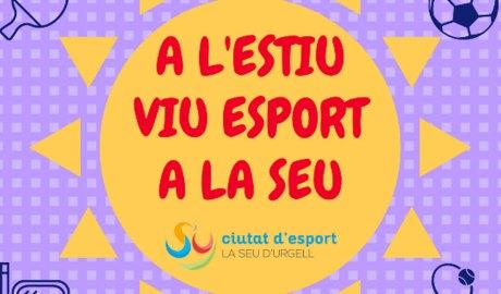 Part del cartell de les activitats esportives d'estiu de la Seu d'Urgell