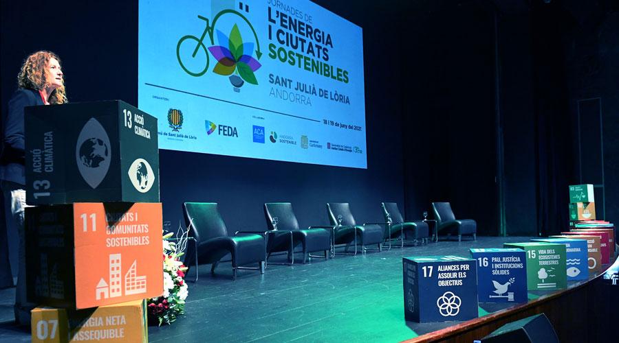Sílvia Calvó inaugurant les Jornades de l'Energia i Ciutats Sostenibles 2021
