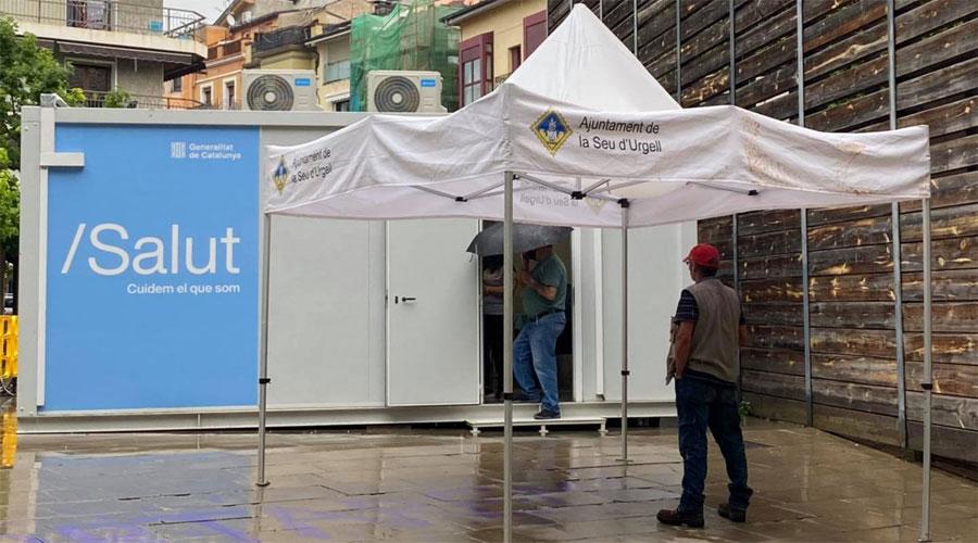Mòdul COVID de la plaça Soldevila de la Seu. Foto: RàdioSeu
