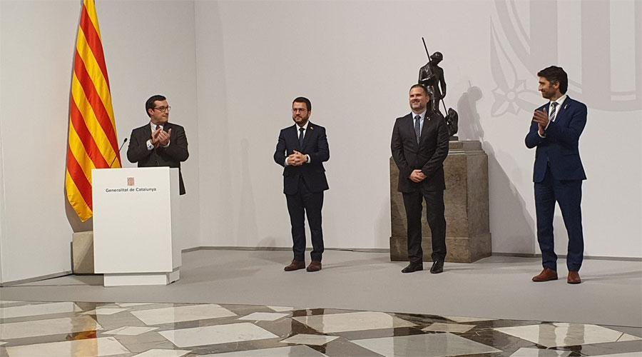 Presa de possessió de Ricard Pérez com a nou delegat del Govern a l'Alt Pirineu i Aran.
