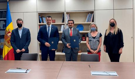 Acte de signatura de l'acord amb el Global Esports Summit. Foto: Andorra Business