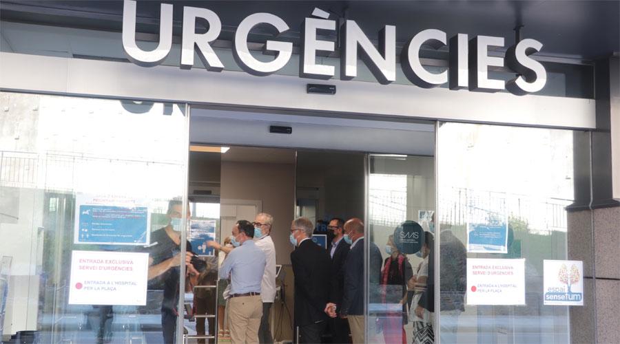 Espot i altres autoritats a la inauguració del servei d'Urgències de l'Hospital Nostra Senyora de Meritxell