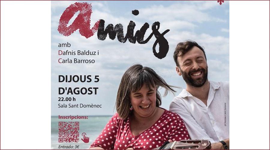 Cartell de l'obra de teatre 'Amics'