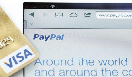 Tarja Visa i web de PayPal