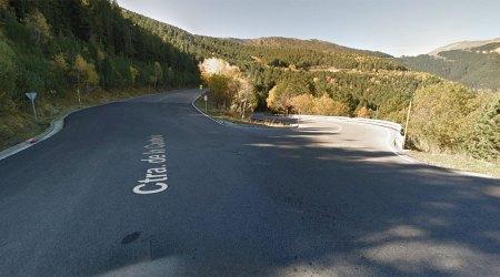 La CG4 en la intersecció amb la carretera de la Caubella