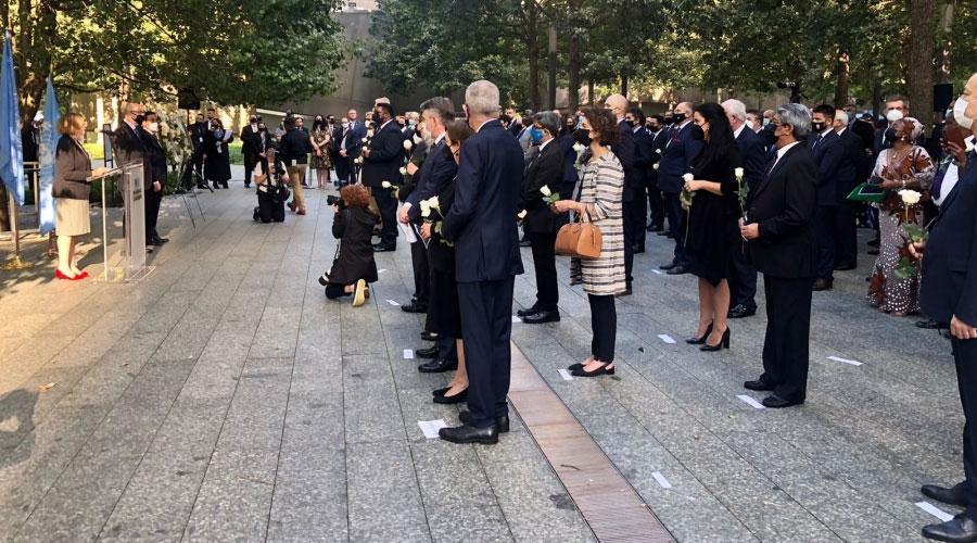 Ubach a l'acte commemoratiu del 20è aniversari de l'atemptat de l'11 de setembre organitzat per l'ONU. Foto: SFG.