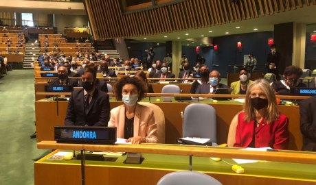 Ubach en l'obertura del debat general de la 76 sessió de l'Assemblea General de les Nacions Unides