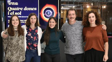 Les actrius Irina Robles, Núria Montes, Annabel Castan i Jèssica Casal