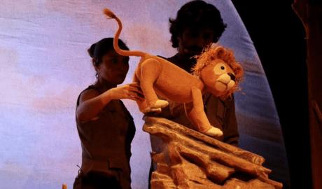 'Les aventures del Lleó vergonyós' al Festival de Titelles d'Encamp.