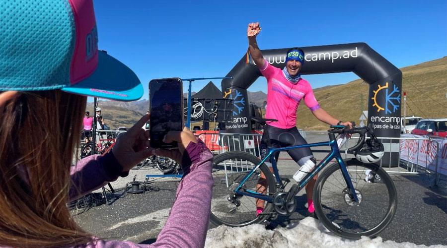 Miguel Martínez en acabar la cronoescalada de la OTSO 25k Andorra