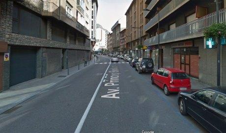 l'avinguda Príncep Benlloch d'Andorra la Vella
