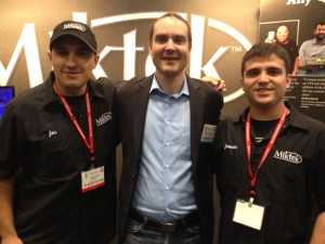While at the AES convention, Hawley met up with Belmont alumni Jon King and Jameson Elder.