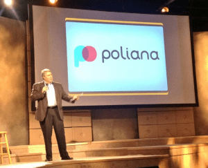 "Tod Fetherling introduces Poliana during Jumpstart Foundry's ""Investor Day"" in August."