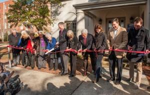 Foutch Alumni House ribbon cutting