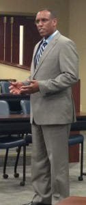 Remy speaking to Belmont University College of Law students.