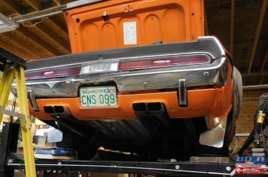 challenger exhaust tips how far do they