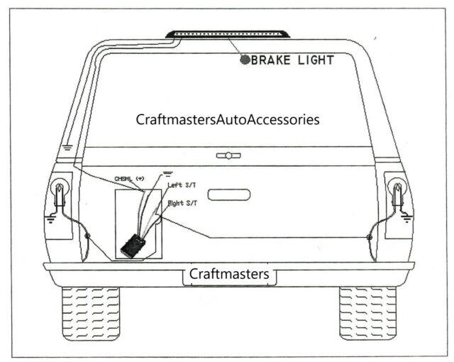 2019 colorado gfc third brake light  mods tips and tricks