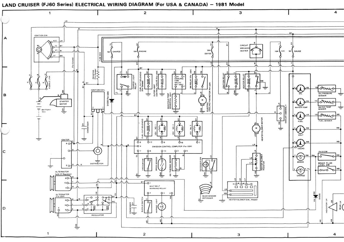 Emissions Computer Circuits (FJ60 USA)