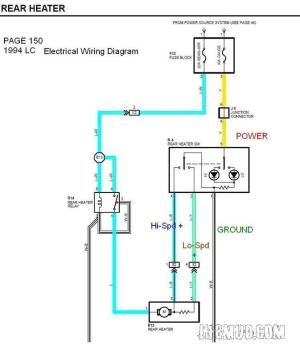 Wiring Mark VIII electric fan with rear heater switch