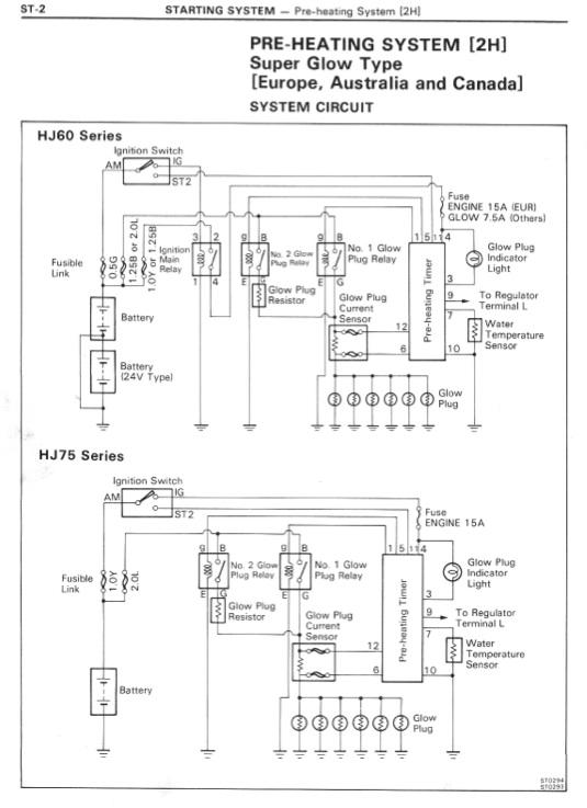 HJ60 PreHeating System Wiring Diagram   IH8MUD Forum