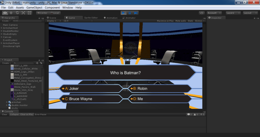 How I build a  who wants to be a millionaire  style quiz game     View attachment 176830