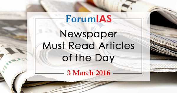 Newspaper  Must Read Articles