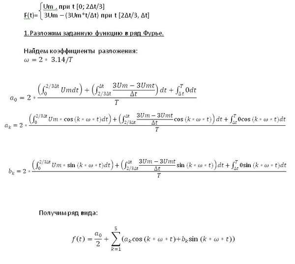 Ряд фурье маткад, не получается – MathHelpPlanet