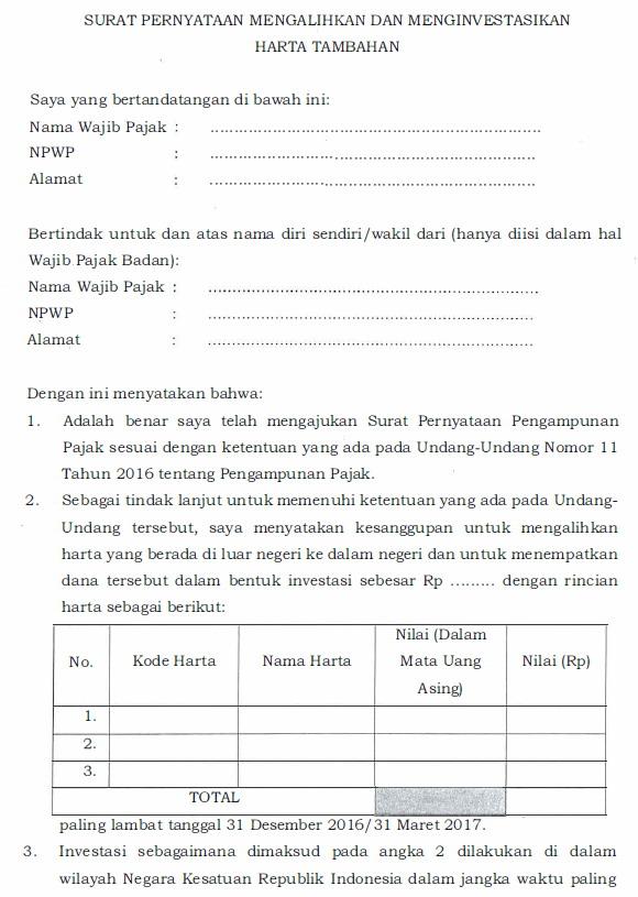 Mengenal Formulir Formulir Pengampunan Pajak Forum Pajak Indonesia