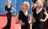 Kelly Osbourne chegou ao Emmy Awards vestindo um look preto com mix de texturas Tony Ward Couture