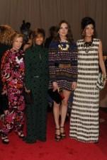 Cindy Sherman, Consuelo Castiglioni, Anouck Lepère, and Giovanna Battaglia, all in Marni.