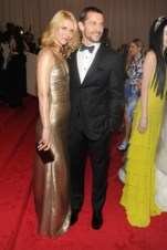 Claire Danes, in Calvin Klein Collection, with Hugh Dancy, in Calvin Klein Collection.