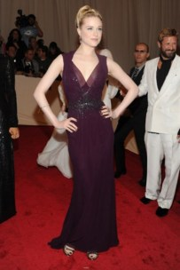 Evan Rachel Wood, in Gucci, with Fred Leighton jewels.