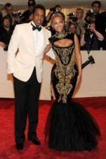 Jay-Z; with Beyoncé, in Emilio Pucci.