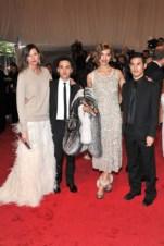 Jenna Lyons, Eddie Borgo, and Arizona Muse, in Altuzarra, with Eddie Borgo jewels and Gianvito Rossi for Altuzarra shoes; and Joseph Altuzarra.