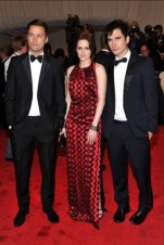 Kristen Stewart, in Proenza Schouler, with Fred Leighton jewels, with designers Jack McCollough and Lazaro Hernandez.