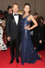 Peter Sarsgaard, in Yves Saint Laurent, with Maggie Gyllenhaal, in Stella McCartney.