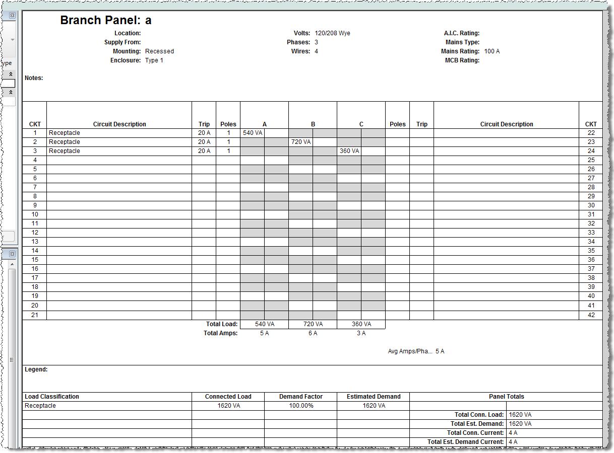 Panel Schedule Template Excel