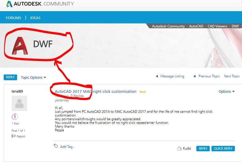 AutoCAD 2017 MAC right click customisation - Autodesk Community