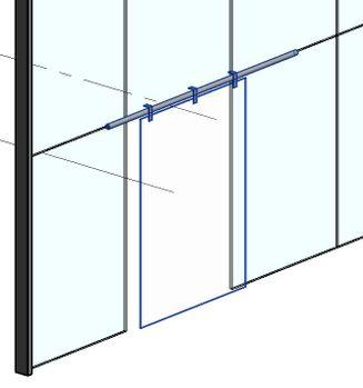 curtain wall sliding door revit