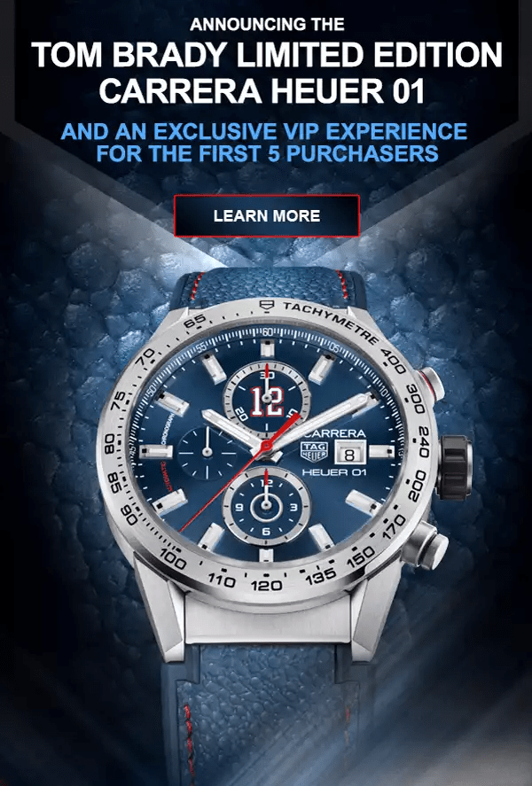 2017 TAG Heuer Tom Brady Carrera Heuer 01 Limited Edition Calibre 11 TAG Heuer Forums