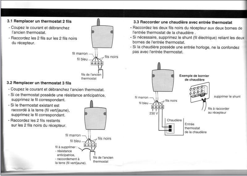 Thermique Alimentation Thermostat Sur Chaudiere Saunier Duval