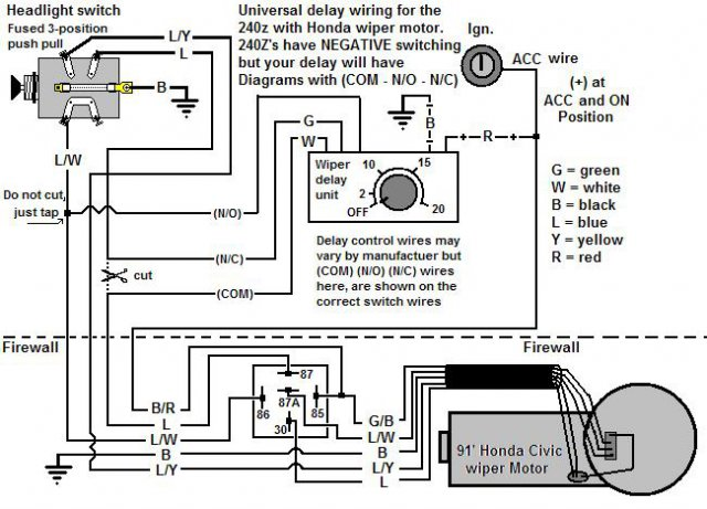 honda wiper switch wiring diagram  wiring diagrams page pen