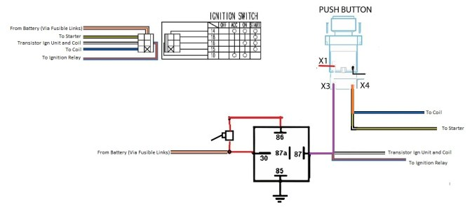 push on ignition switch wiring diagram thermocouple wiring