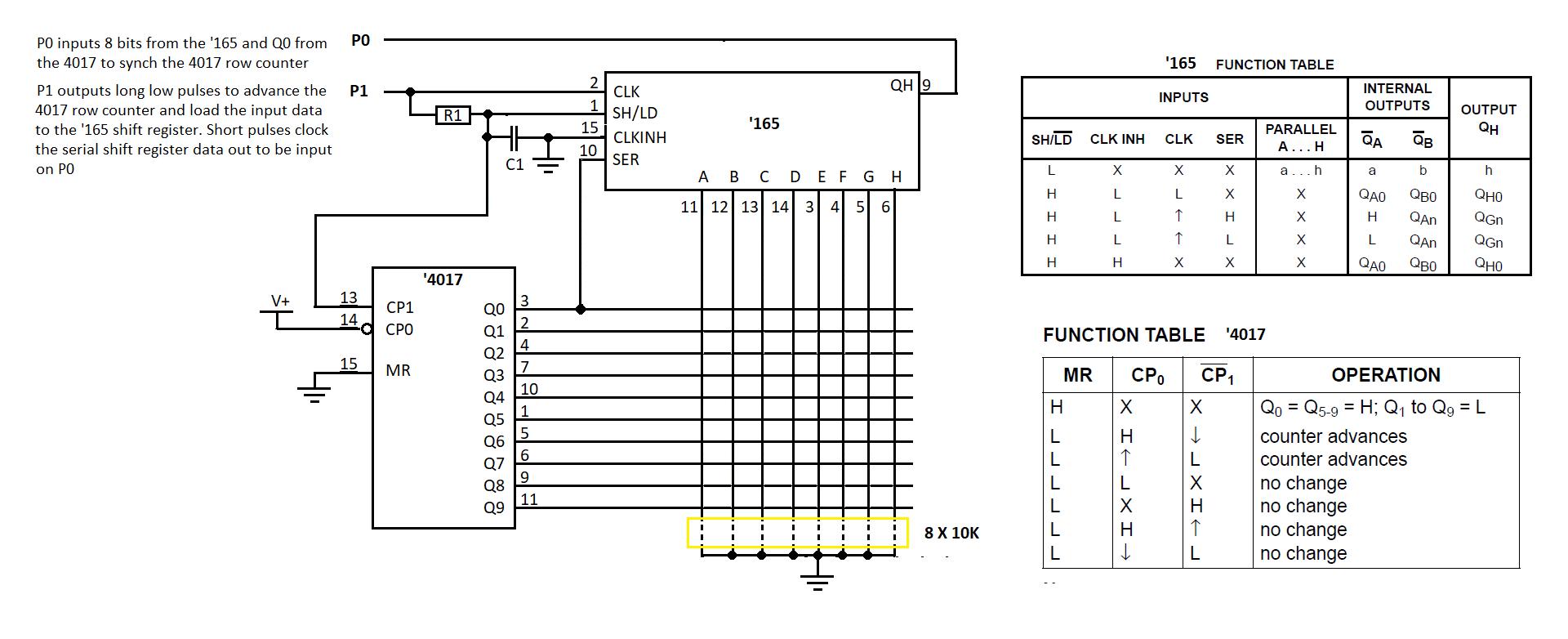 42 Key Keypad On 5 Wires Complete