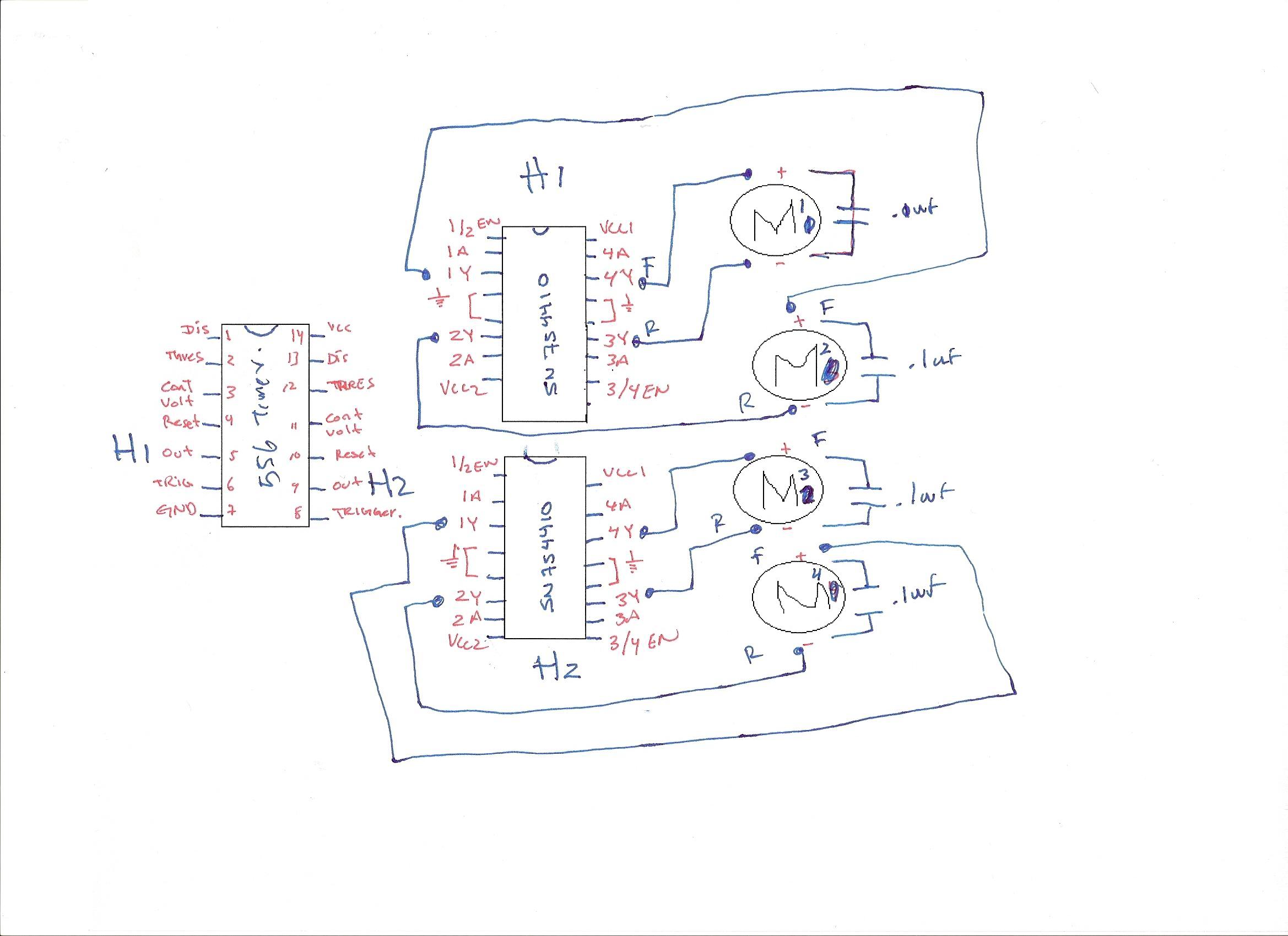 Basic Stamp 2 Sn 555 Timer Or 556 Timer Dc Motor