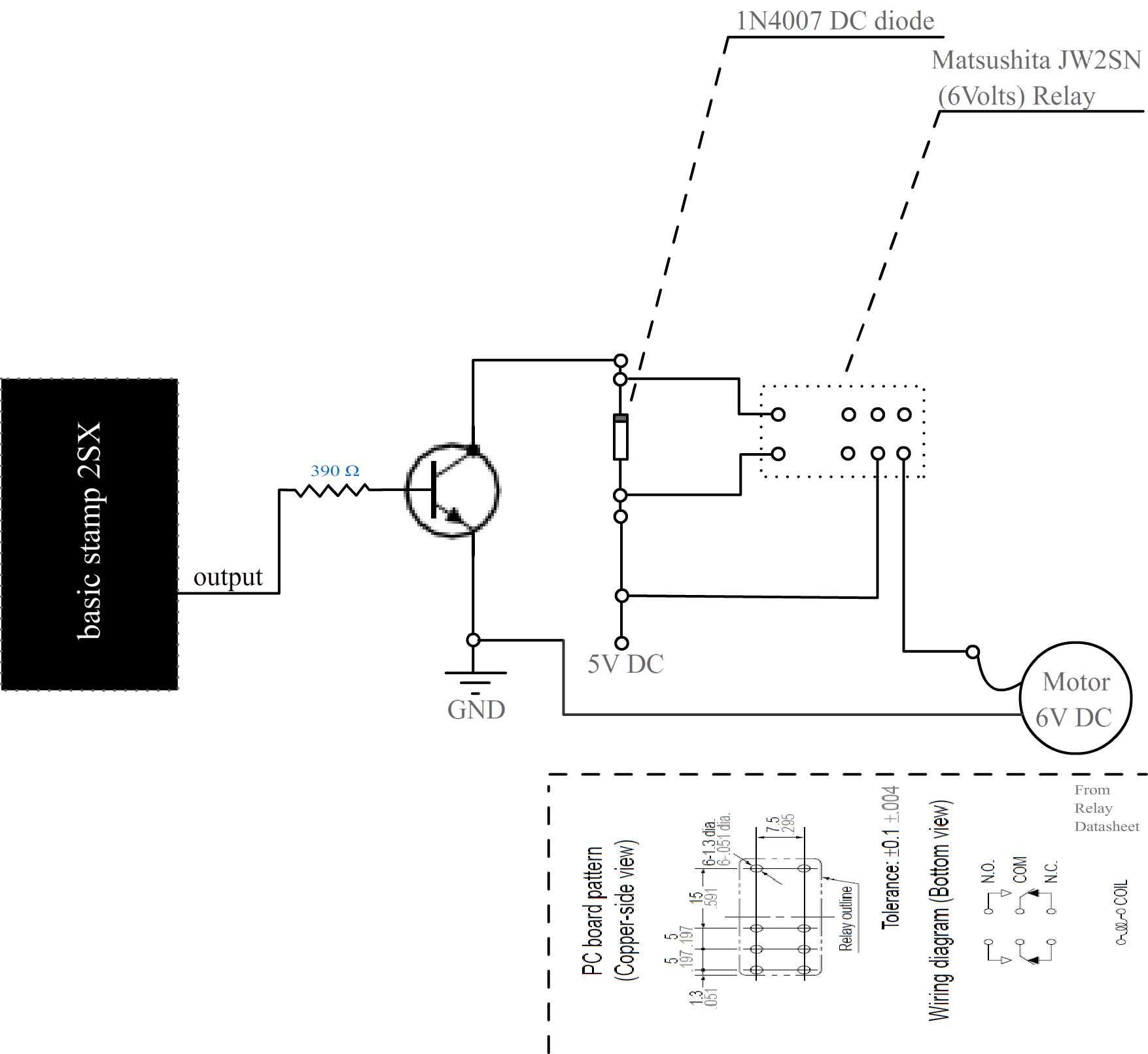 Dc Motor And Basic Stamp 2