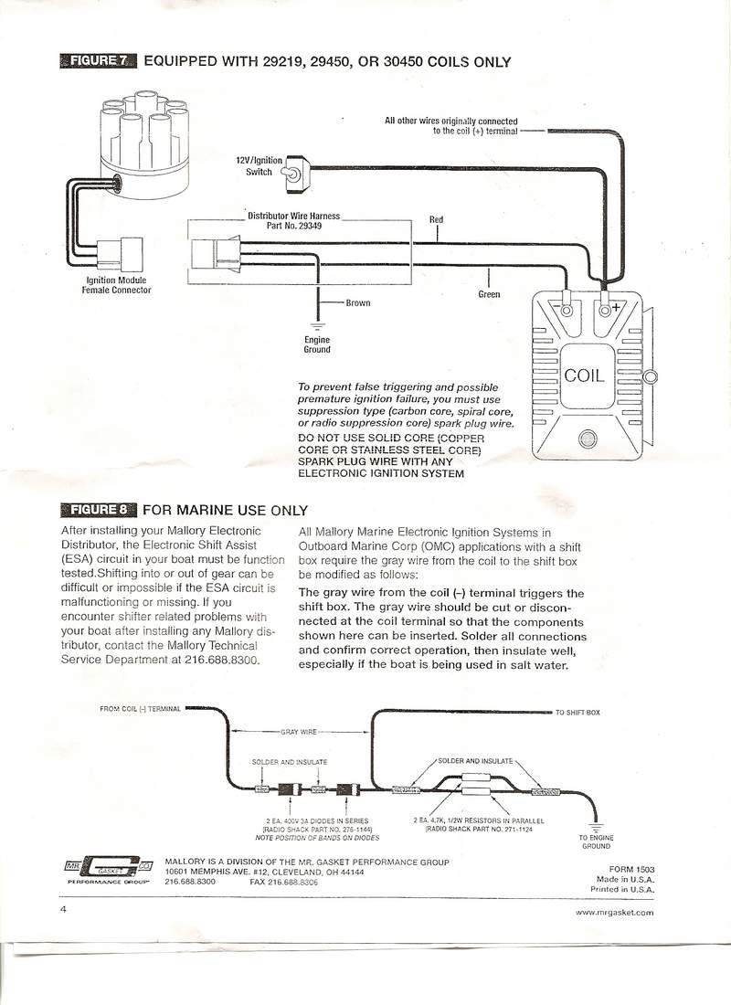 mallory magnetic breakerless wiring diagram mallory gauges