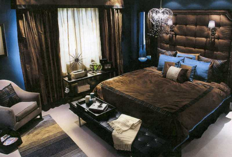 Here's the photo concept for the BLUE master bedroom, taken from HGTV's