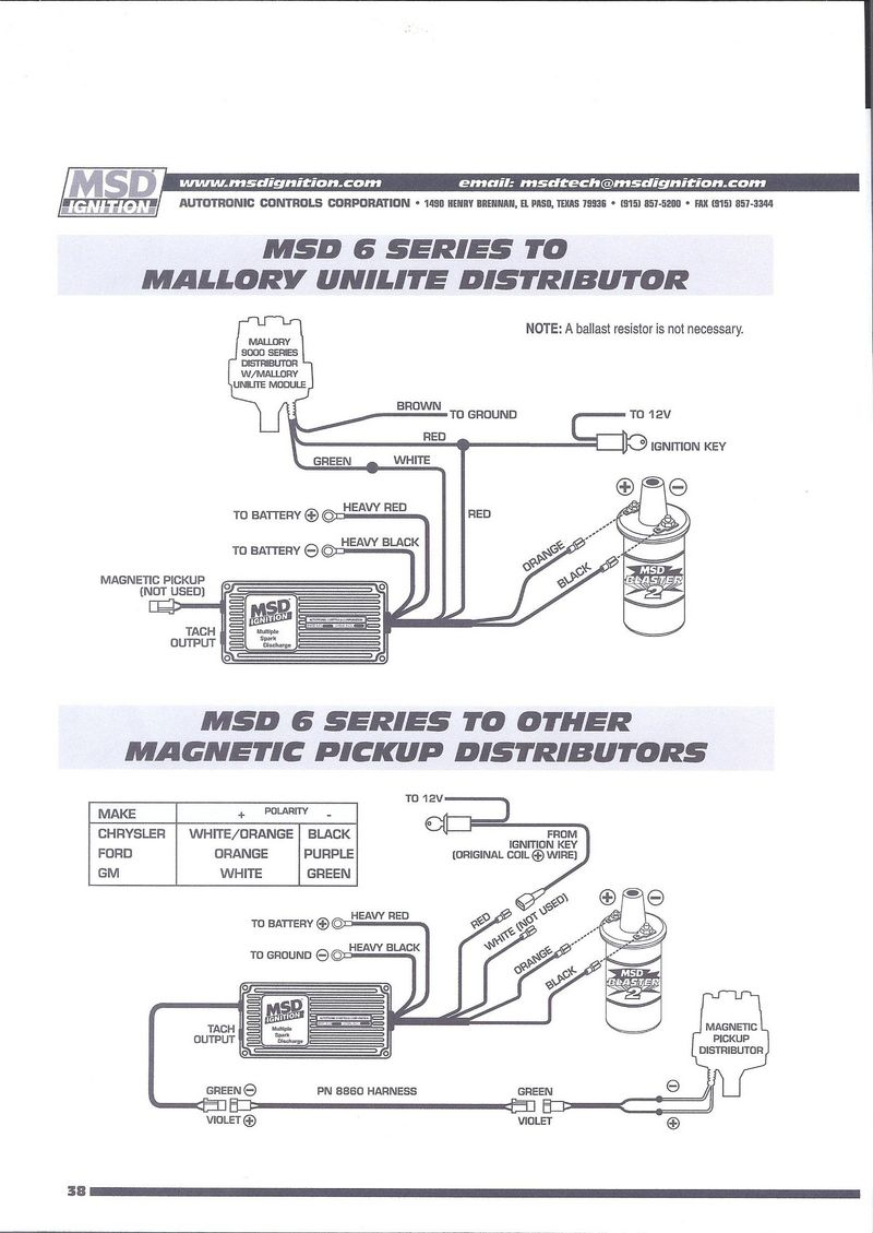 wiring diagram distributor hyfire mallory ignition mag msd